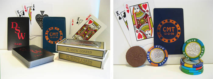 Personalized playing cards - Custom poker chips